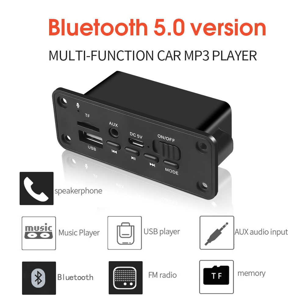 KEBIDU DC 5V MP3 WMA Decodificador Bordo Do Bluetooth Módulo de Áudio USB TF Rádio FM Sem Fio Receptor MP3 Player 2x3 W Amplificador Para Carro