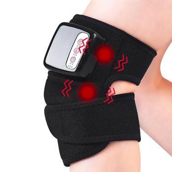 Knee Massager Heated Vibration Knee Brace Wrap Heating Massage for Pain Relief   Massage Knee Joint Rheumatoid Arthritis