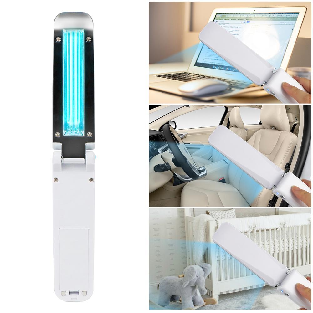 Led Bulb UV Lamp Wand Without Ozone Handheld Folding Outdoor Business Trip Indoor Kitchen Cabinet Ultraviolet UVC Quartz Light 5