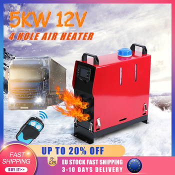 Single/4 Holes Air diesels Heater 5KW Adjustable 12V Car Air Heater LCD Parking Heater For Trucks Motor-Homes Boats Bus new lcd switch single hole black car air heater 12v 2kw air diesels heater parking heater with muffler for rv boat trail truck