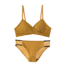 Bra Suit Thin Ring-free Underwear Girls High School Gather Small