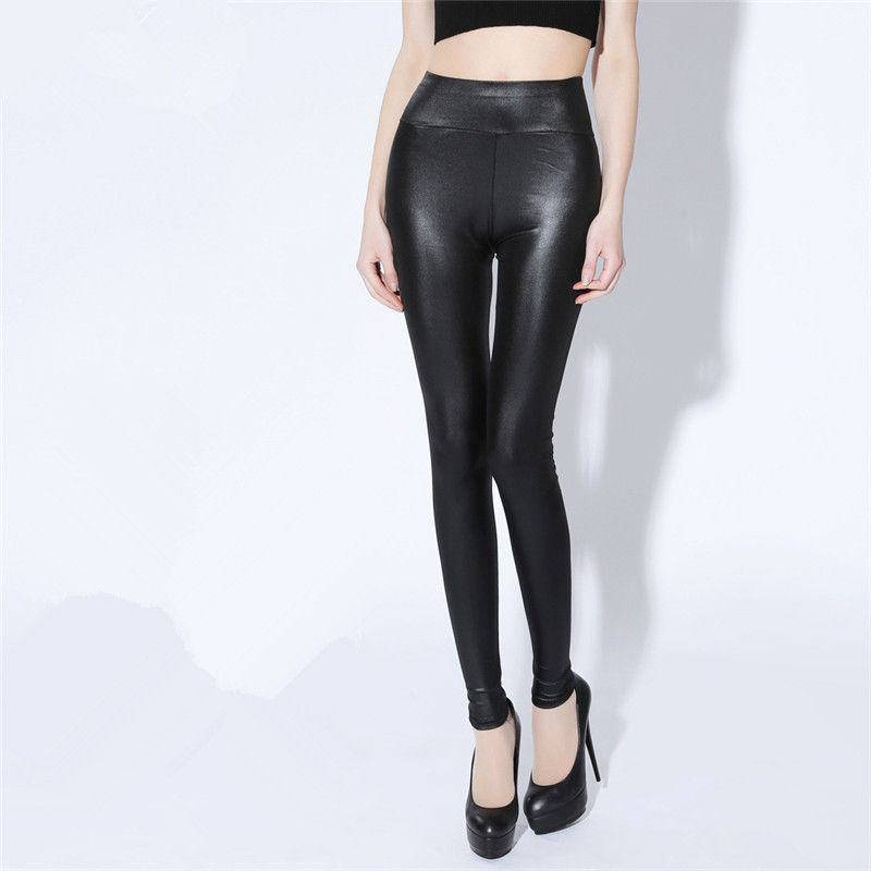 Women's Long Black Legging Plus Size 5XL Imitation Leather Pants Newest Fashion Push Up High Waist Leggings LWL515