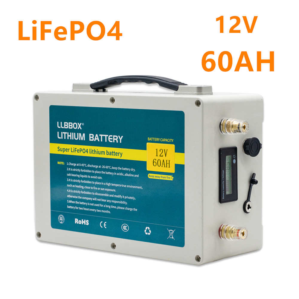 Lifepo4 12V60ah <font><b>lithium</b></font> <font><b>battery</b></font> pack <font><b>12V</b></font> lifepo4 <font><b>60AH</b></font> <font><b>battery</b></font> pack for golf cart /solar energy with 10A charger image