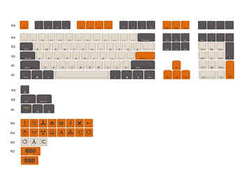 Mechanical keyboard Carbon keycap Cherry MX switch PBT material Laser etching