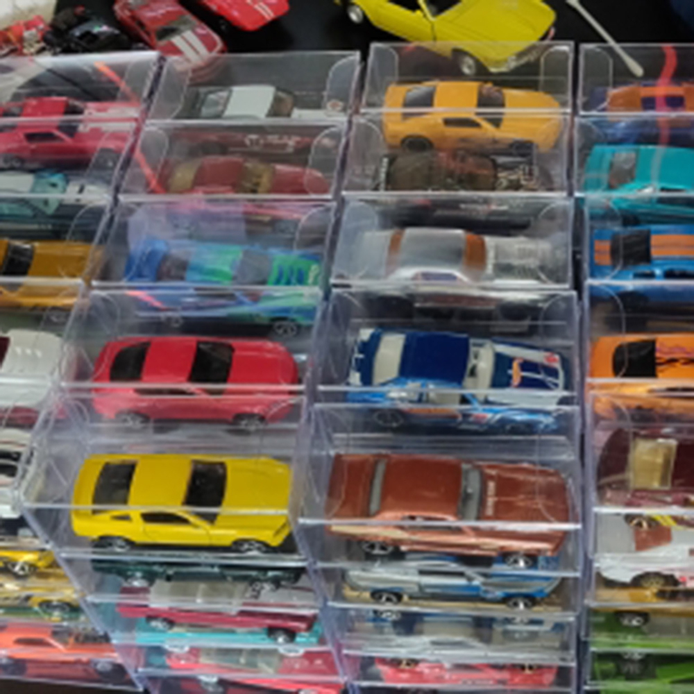 20-50pcs For 1:64 Toy Car PVC Protector Box Case Display Box 41*43*103mm Lot New