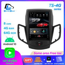 Android 10,0 4G globale Lte auto gps multimedia stereo radio player für ford fiesta 2009-2016 vertikale player navigation system