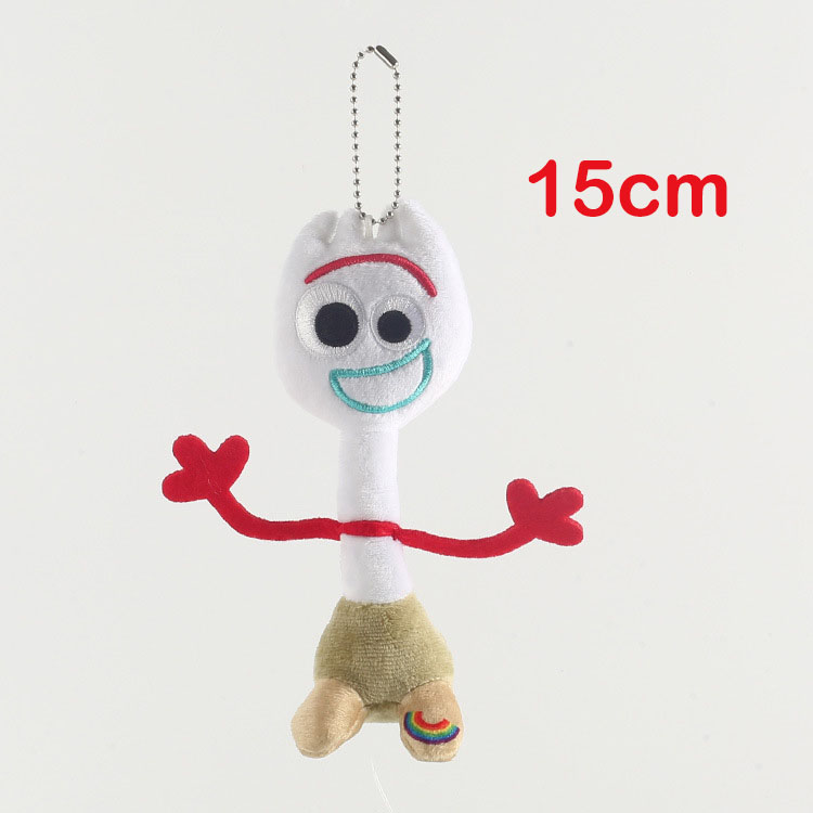 Cartoon Movie TS4 Forky Anime Plush Keychain Toys Forky Soft Plush Stuffed Doll Figure Kids Christmas Birthday Gift