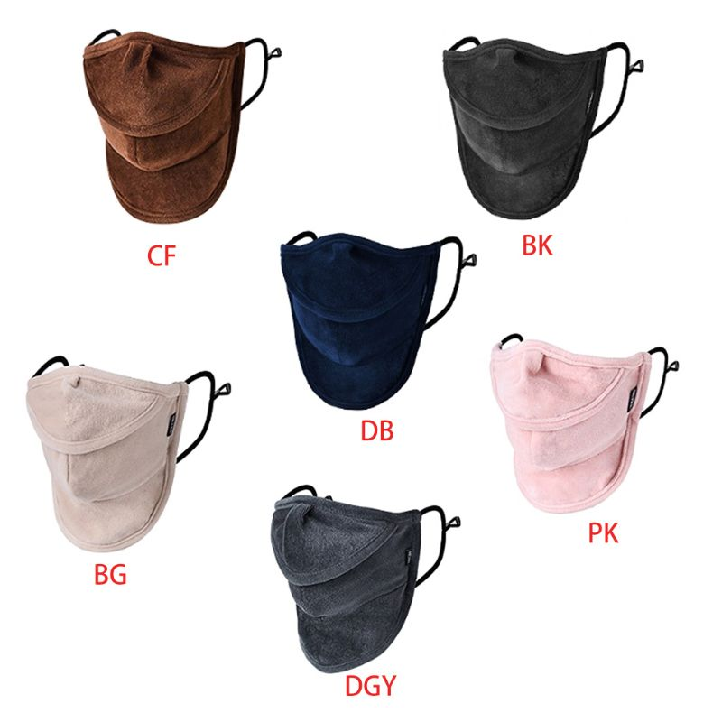 Women Men Winter Warm Face Mouth Mask Open Nose Anti-Dust Windproof Neck Gaiter 22x20cm