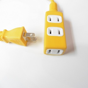 Image 3 - Electrical Socket 1 to 3 Japan Power Socket Outlet Two flat plug HOME Electromobile charger Power Strip overall length 50CM