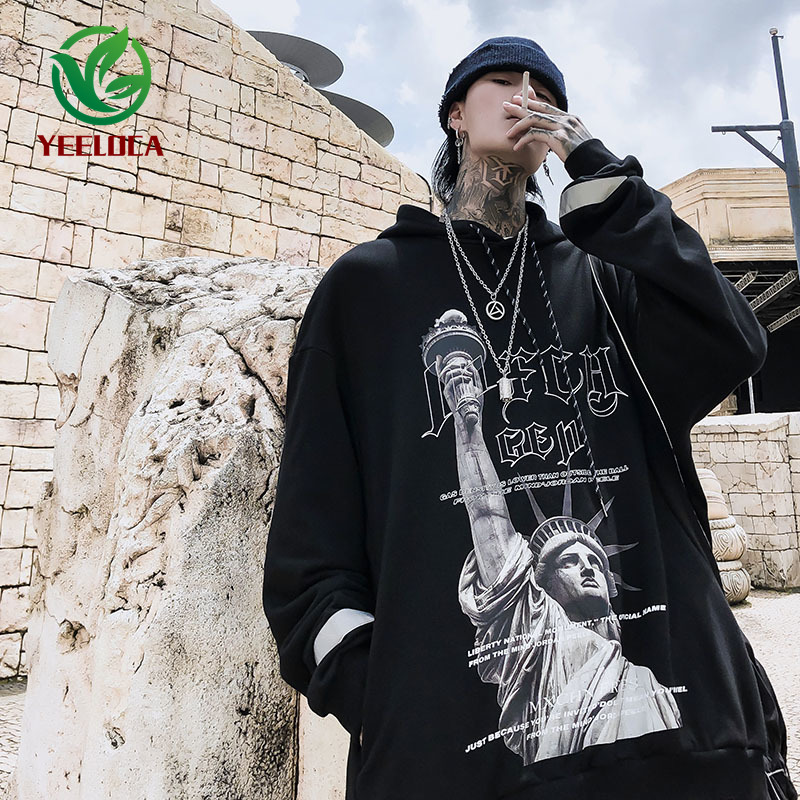 Image 2 - 2019 Dropshipping British Style 3M Reflective Hoodie Men Hip Hop 