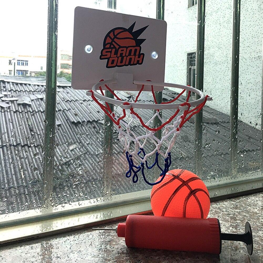Пластиковая баскетбольная доска с обручем, набор сетки, детская мини-сетевая доска, коробка, игрушки для уличных упражнений, спортивные укр...