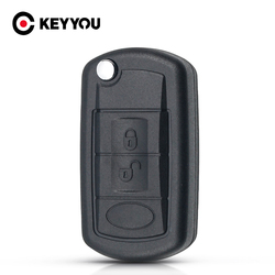 KEYYOU  Replacement Shell Folding Flip Remote Key Case Fob 3 Button for LAND ROVER Range Rover Sport LR3 Discovery