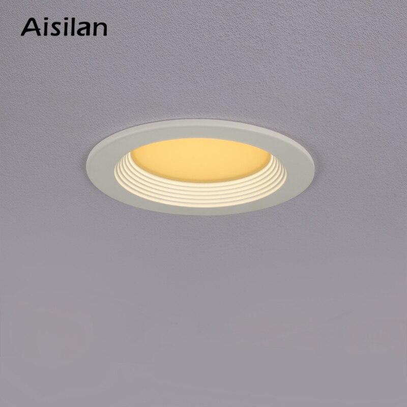 Aisilan светодиодный светильник белый/золотой круглый встраиваемый светильник домашний Точечный светильник для спальни кухни