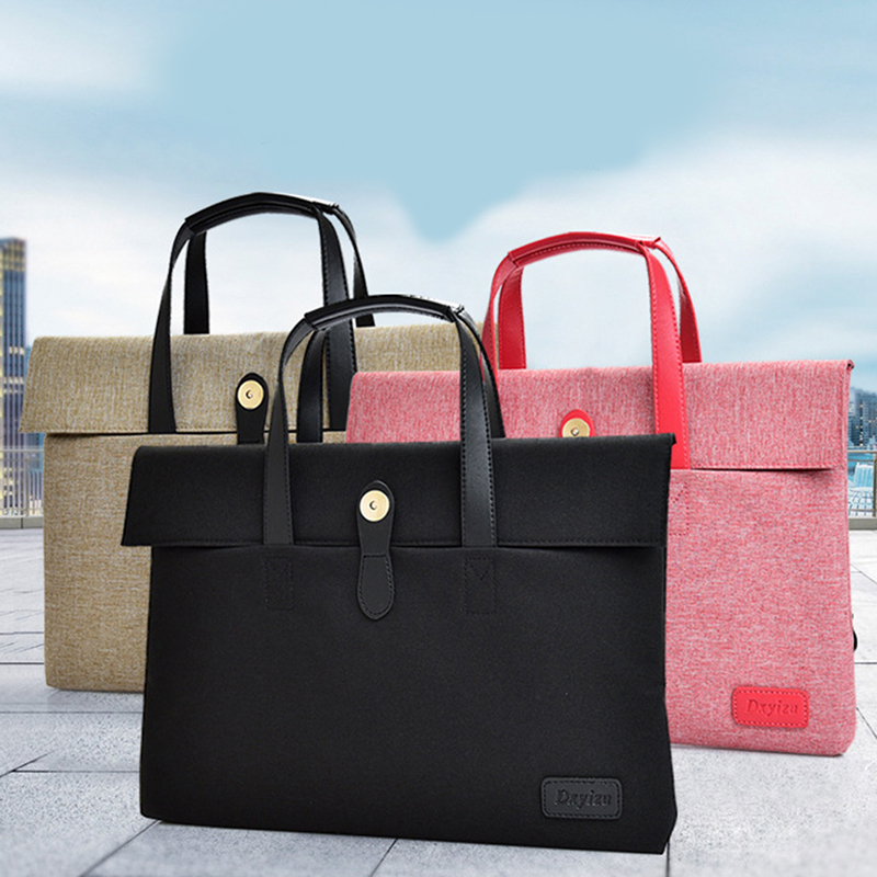 2020 Women Men Briefcase Unisex Zipper Laptop Bag Multifunction Liner Bag Computer Handbag Retractable Handle Computer Case