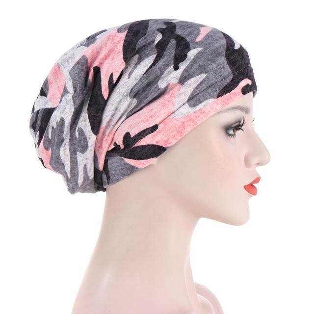 новый принт в мусульманском стиле цветочный головной убор кепка фотография