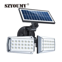 SZYOUMY Double Head Wall Mounted LED Integrated Street Light Outdoor Courtyard Road Lighting Flood Light 2 Styles Optional