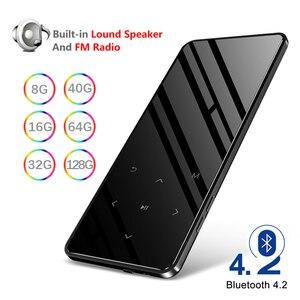 Bluetooth MP3-плеер динамик Hifi металлический портативный плеер с Fm-радио Запись Built-in Динамик сенсорная клавиша 2,4 дюймовый Tft экран