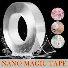 Super viscosidade dupla face fita para rosto 3 m fácil de rasgar transparente nano adesivo casa fornecimento magica gadgets aperto forte gel