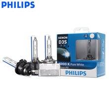 Philips Ultinon – ampoules au xénon HID, lumière blanche froide, pour phares de voiture, D1S D2S D2R D3S D4S WXX2 35W 6000K, (double Pack)