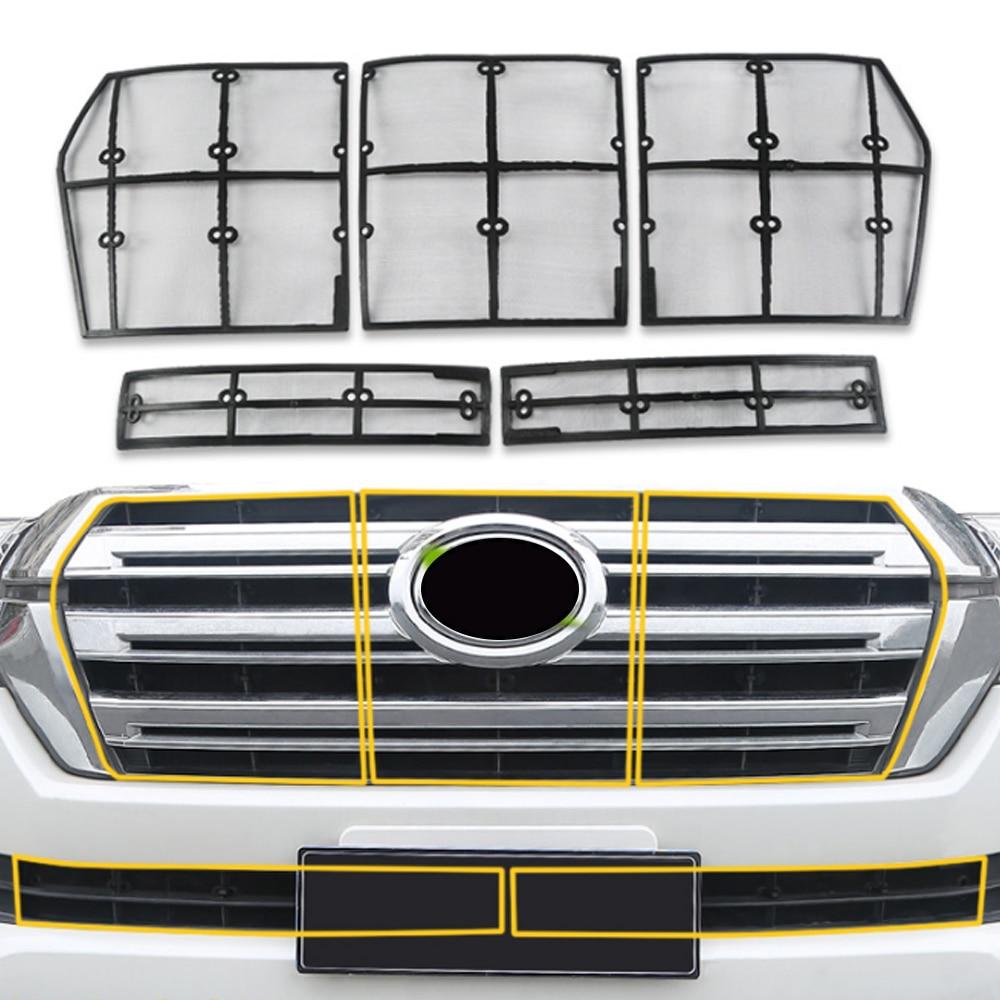 Voiture Anti insecte protection solaire capot avant grilles Grille filet maille cadre Auto pièces pour Toyota Land Cruiser 200 LC200 J200 2012-2018 - 2