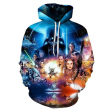 Mens New 3D Printing Hoodies Fashion 3d Star Wars Unisex Street Casual S-6XL