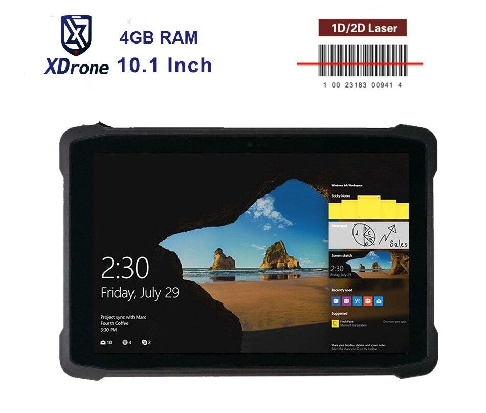 2020 Windows 10 Home Laser Barcode Reader Scanner 2D Wireless Handheld Terminal 4G mobile Tablet PC 10.1 inch 4GB Cash Register