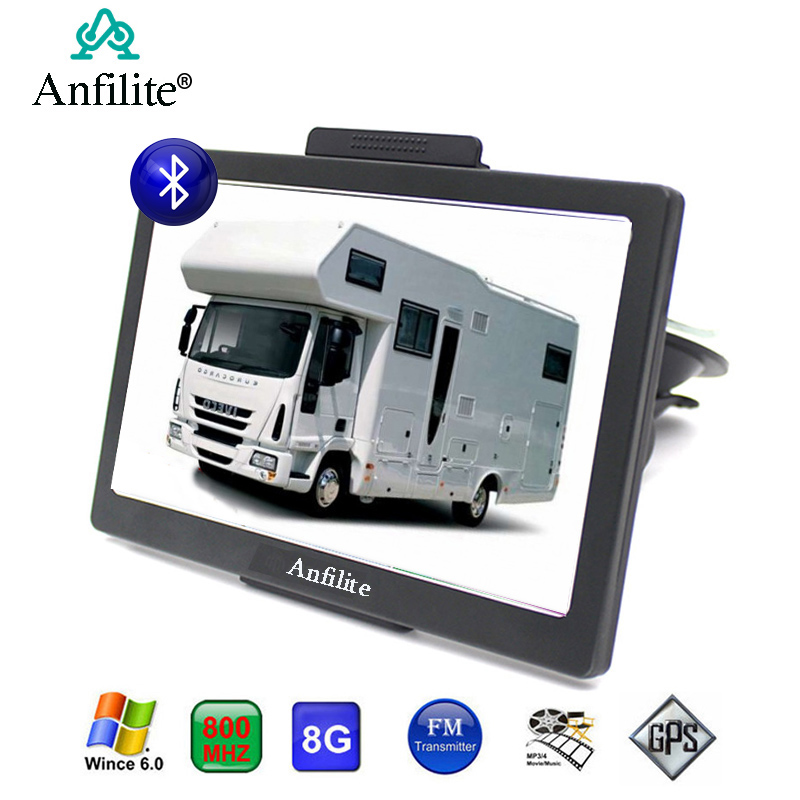 Anfilite GPS Navigation Sat Nav Bluetooth Portable Europe Camping Truck/vehicle 256M title=