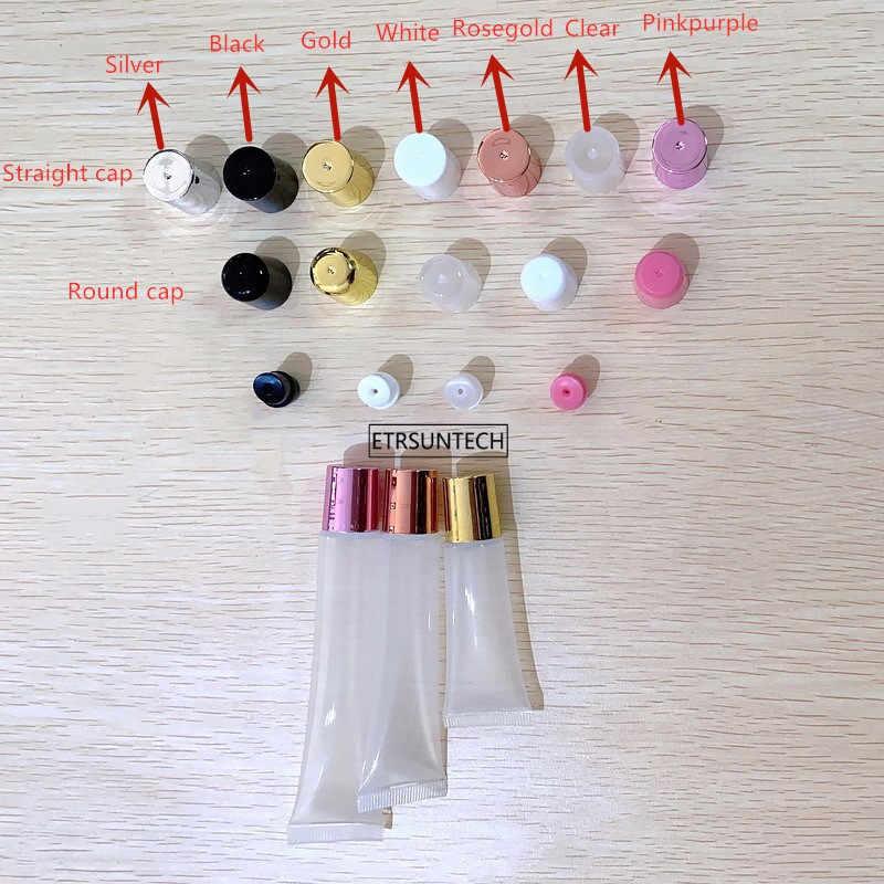 Tube vide pour rouge à lèvres, 30/50 pièces, 10ml 15ml 20ml, flexible souple à presser, récipient sous-embouteillage, pour Gloss à lèvres, F606