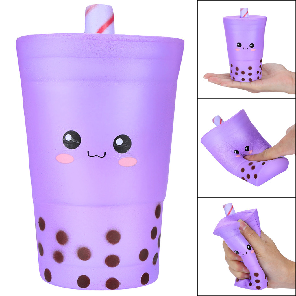 16cm Jumbo Squishies Cute Milk Cups Cream Scented Squishies Slow Rising Charm Toy Kids Toys Squishy Toys Toys For Children