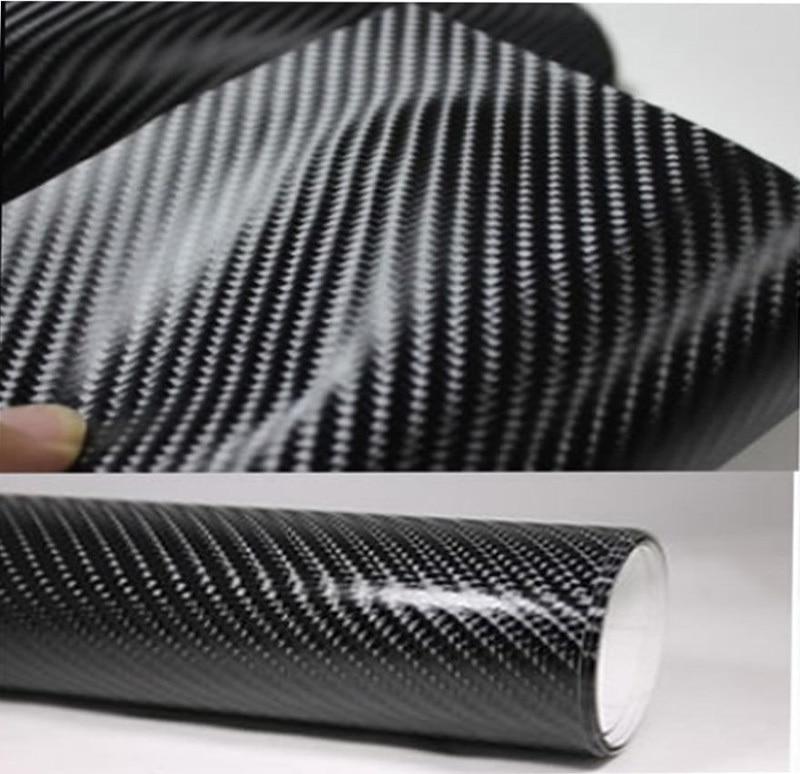 Утолщенная виниловая оберточная пленка из углеродного волокна 4D 3 м с пузырьками воздуха 30 см х 152 см, водонепроницаемая самодельная Автомоб...