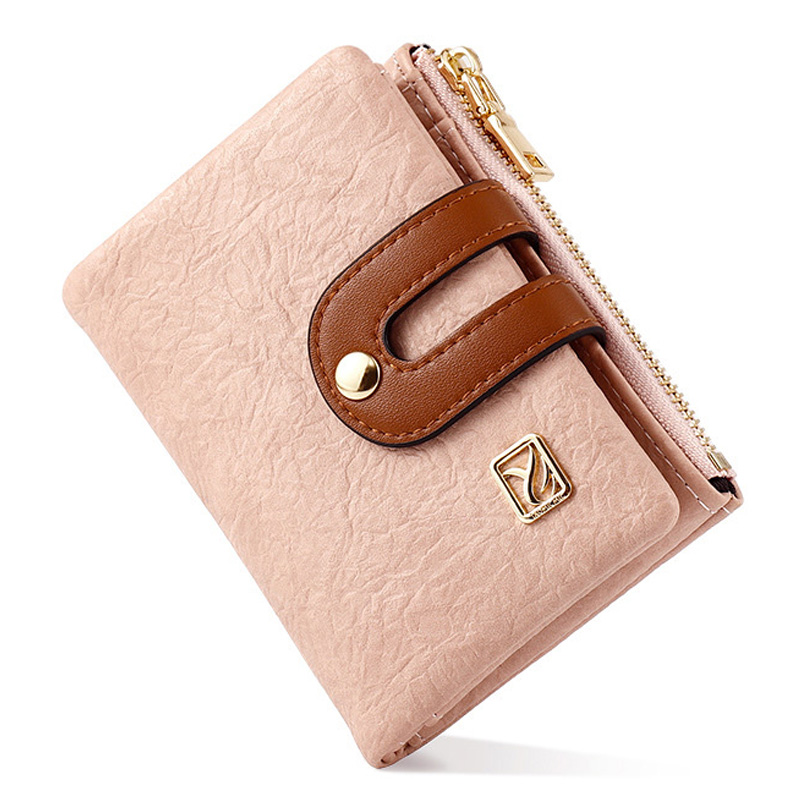 Many Departments Women Wallets Soft Leather Zipper Coin Purse Ladies Wallet Female Card Holder Small Purse Slim Portfel Carteira