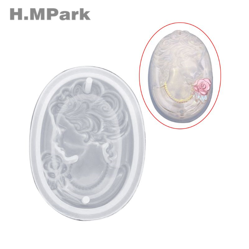 DIY Crystal Epoxy Resin Mold Silicone Mold For Resin Crafts Women Figure Objects Exquisite Luxury Pendant Jewelry Tools