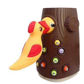 1 juego pájaro carpintero comiendo insectos de juguete gusano de madera Durable magnético pájaro comiendo gusano juguetes para niños juegos de fiesta Juguetes