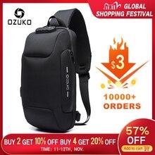 OZUKO 2019 yeni çok fonksiyonlu Crossbody çanta erkekler için Anti theft omuz askılı postacı çantaları erkek su geçirmez kısa seyahat göğüs çanta paketi