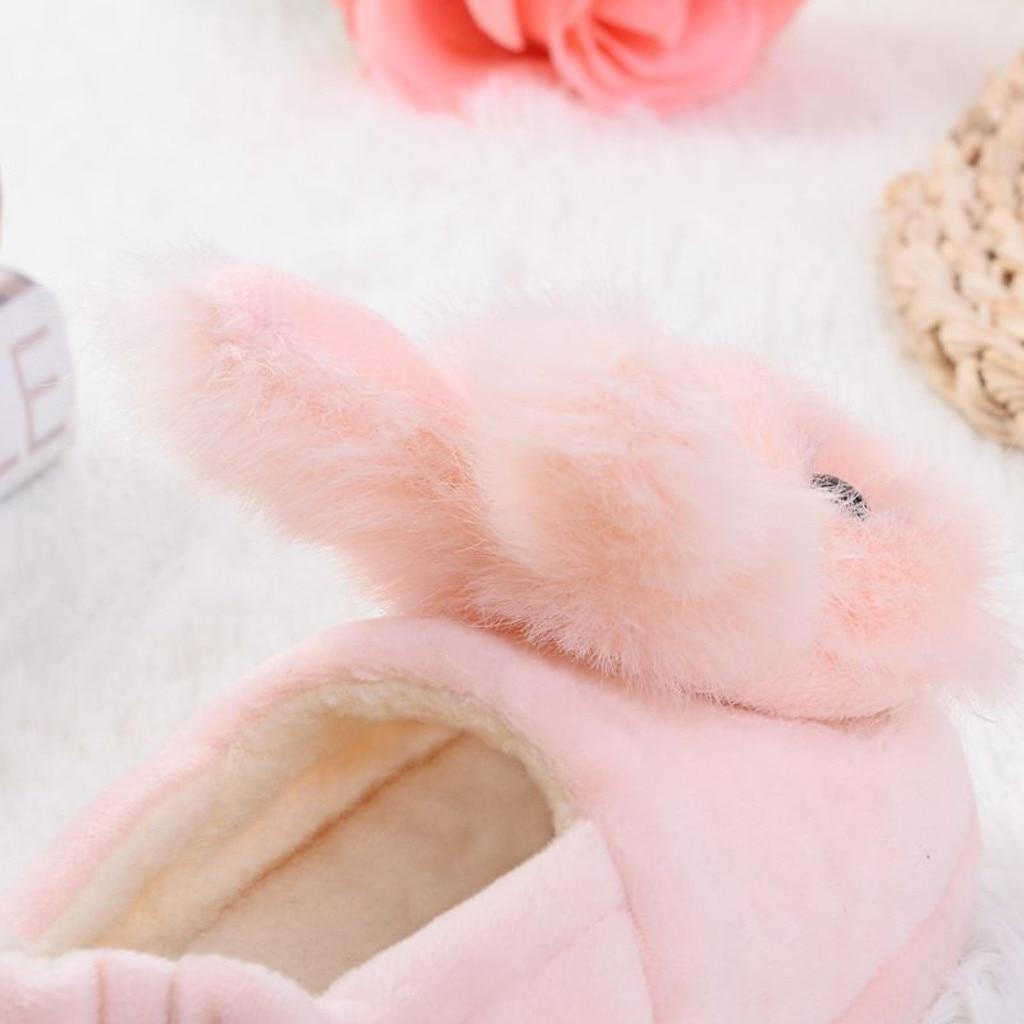 Ha0c037b9b39e4684a40dfd40fe6397baP Sapatos para crianças de algodão, sapatos para crianças meninos e meninas de outono, chinelos fofos com orelhas de coelho, espessamento de bola, sapatos internos