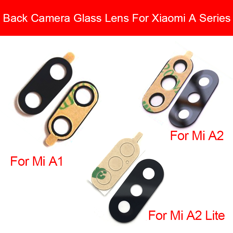 Rear Main Camera Glass Lens For Xiaomi Redmi Mi A1 A2 6 Pro Lite Camera Protection Cover Camera Glass Lens Replacement Parts