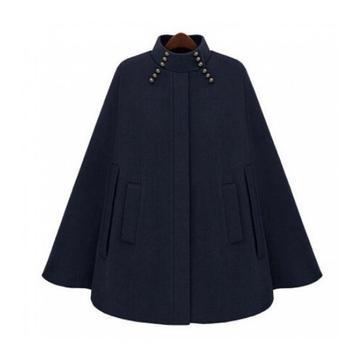 Cloak woolen coat 2019 fashion star with woolen women coat cheongsam collar cloak woolen coat loose cloak Trench Outwear Female фото