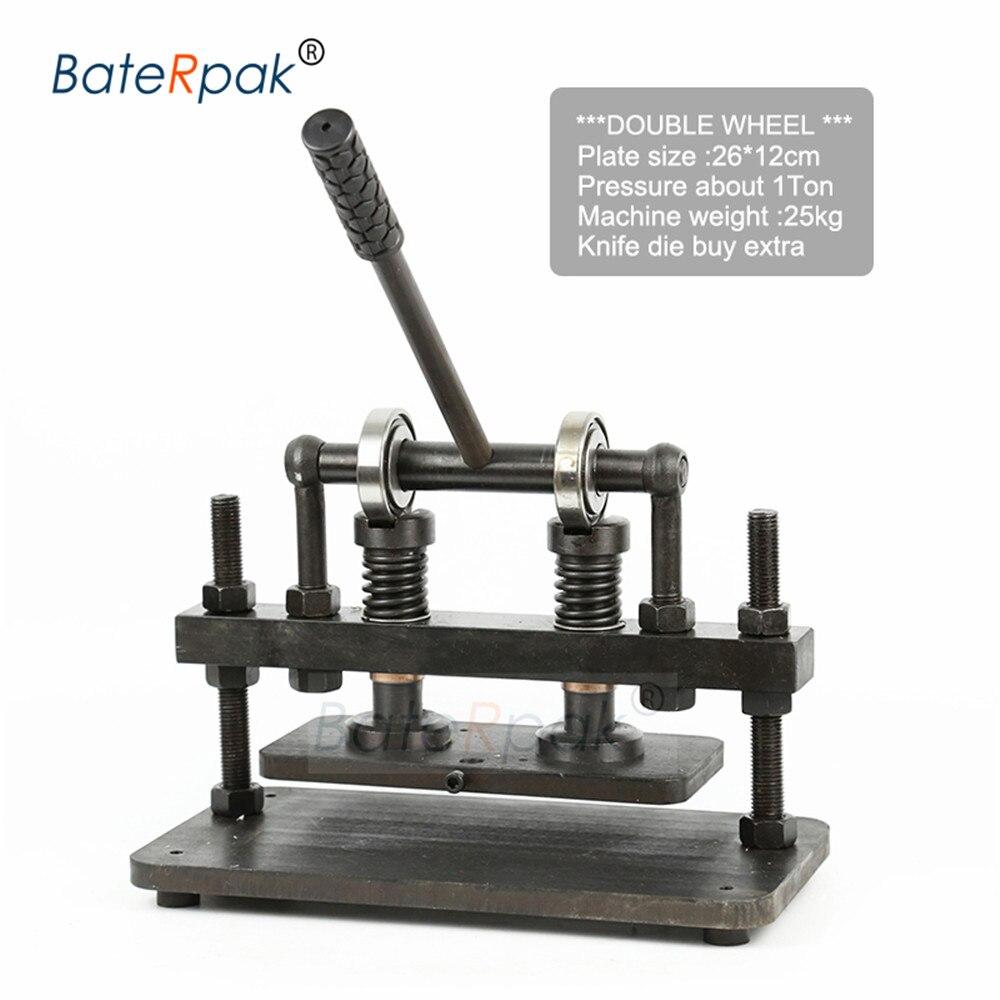 26x12 cm Doppel Rad Hand leder schneiden maschine, BateRpak foto papier, PVC/EVA blatt mold cutter, leder stanzen maschine