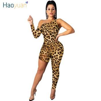 ZOOEFFBB mono con pierna ancha de leopardo sexi para mujer, mono de fiesta de una pieza, traje de una pieza, mono ajustado sexi asimétrico