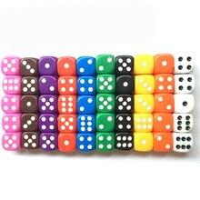 10 шт./лот, Набор кубиков, 10 цветов, высокое качество, твердые акриловые 6 сторонних кубиков для клубных/вечерние/семейных игр
