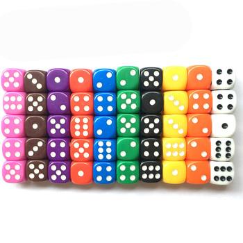 10 sztuk partia zestaw kości 10 kolory wysokiej jakości masywny akryl 6 jednostronne kości dla Club Party gry rodzinne darmowa wysyłka tanie i dobre opinie BRT601 Cyfrowy kości DICE
