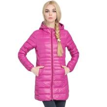 Duck Coat Winter Jacket Womans Outerwear Slim Hooded Down Jacket Woman Warm Down Coat Women Ultra Light Jackets Duck Down Parkas цена