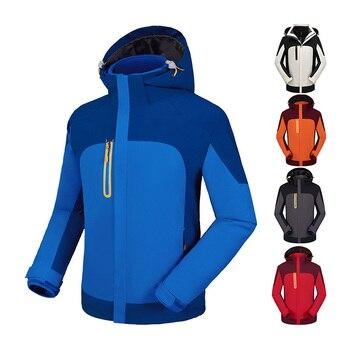 Outdoor Hiking Sports Coat Men Camping Waterproof Hooded Warm Zipper Cardigan Breathable Thinck Sunscreen Fishing Jackets