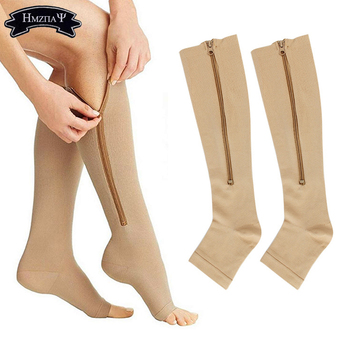 1Pairs Sports Compression Socks Zipper Sock Suitable For Men and Women Running Sports travel Compression Socks