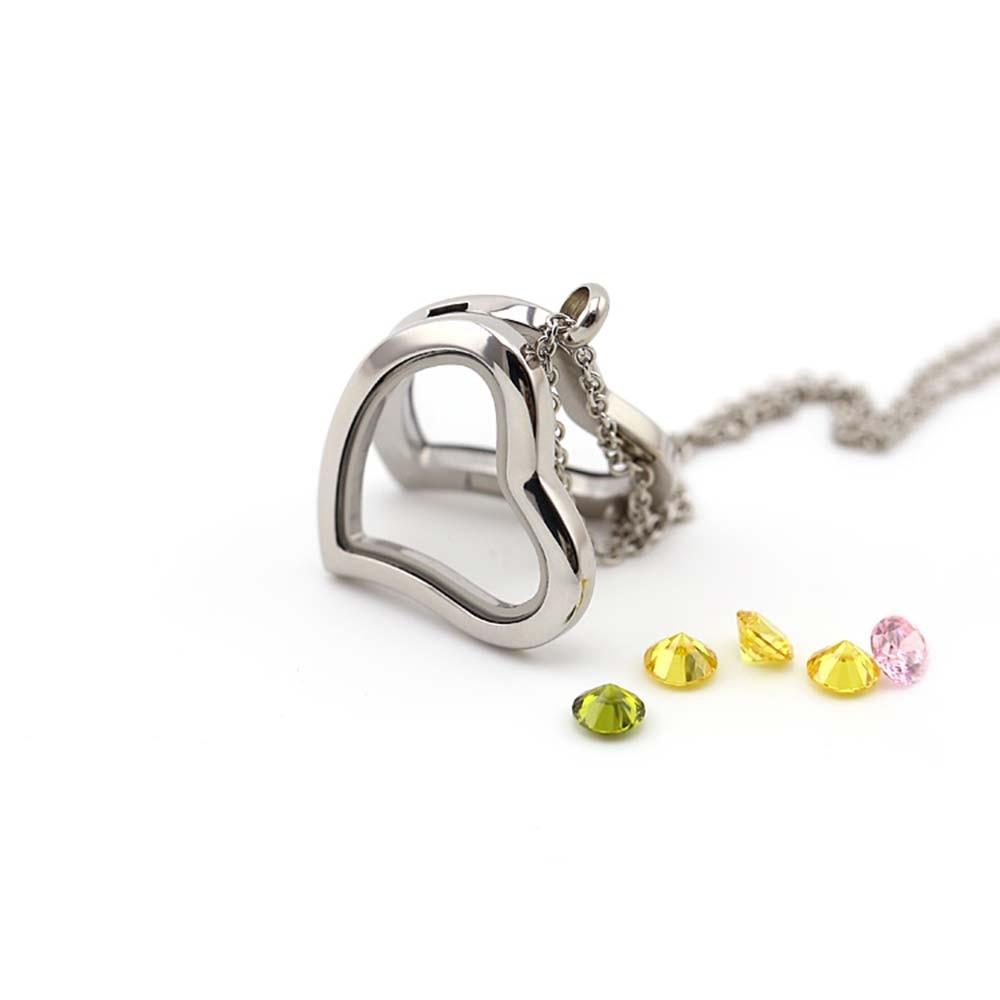 floating charm locket necklace BOFEE