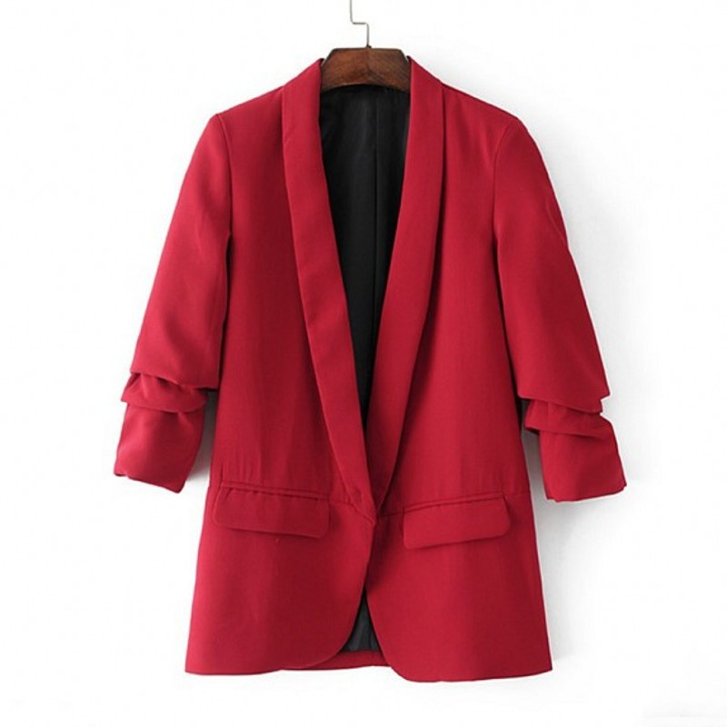 Women Blazer Professional Slim Suit Collar Casual Spring /autumn Plus Size Suit Jacket Female Office Womens Jackets and Coats