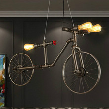 Industrial Creative Bicycle Pendant Lights Nordic Retro Iron Pendant Lamp Cafe Bedroom Restaurant Bar Hanging Lamp Decor Fixture scandinavian pendant lights industrial naked pupa personalized creative restaurant cafe bar stairs retro industry pendant lamps