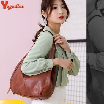 Yogodlns Vintage Women Hand Bag Designers Luxury Handbags Women Shoulder Bags Female Top-handle Bags Fashion Brand Handbags 3