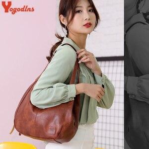 Image 5 - Yogodlns Vintage Vrouwen Handtas Ontwerpers Luxe Handtassen Vrouwen Schoudertassen Vrouwelijke Top Handvat Tassen Mode Merk Handtassen