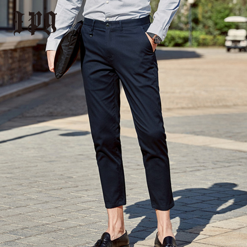 Ipg 2020 New Mens Fashion Business Casual Pants Quality Cotton Trousers Male Clothing Ankle Length Men Straight Pant Breathable